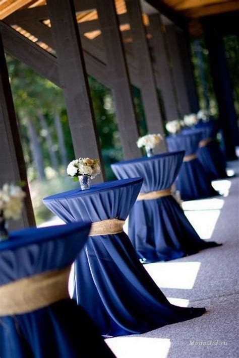 pretty navy blue  white wedding ideas deer pearl
