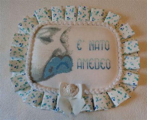 cuscino nascita punto croce cuscino nascita amedeo dall album di nonnamiry ricami