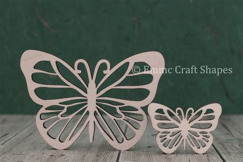 wooden butterfly craft shapes plywood blank
