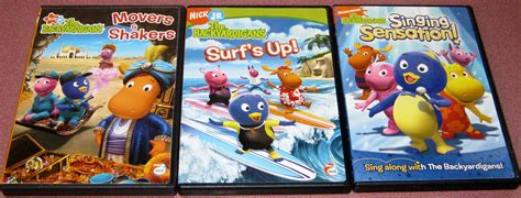 9 nick jr the backyardigans dvd lot super spy mars cave party surf s up more what s it worth