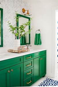 Testing new kelly green paint colors for my kitchen cabinets for Best brand of paint for kitchen cabinets with abstract bathroom wall art