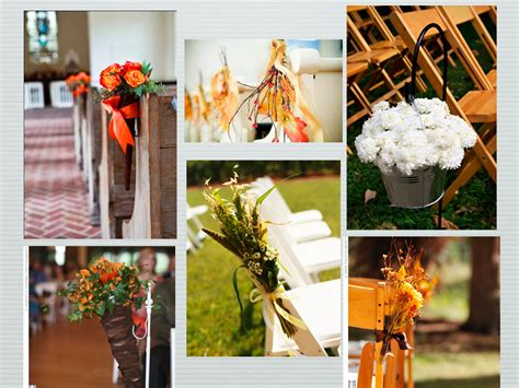 wedding planner blog archive fall aisle style