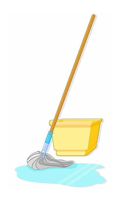 Mop Clipart Vector Clip Bucket Illustrations Illustration