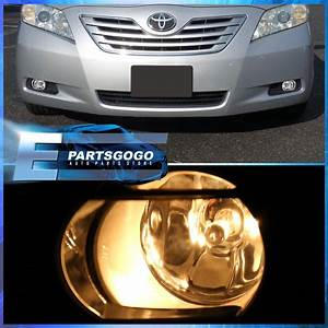 Fits 2007 2008 2009 Toyota Camry Bottom Clear Fog Lights