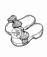 Coloring Shoes Printable Summer Pages Bows 4kids sketch template