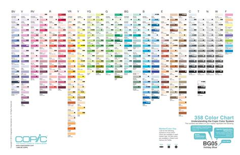 copic color chart