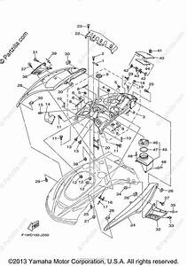 Yamaha Waverunner 2011 Oem Parts Diagram For Engine Hatch 1