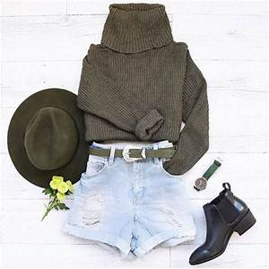 Top outfithuas cute khaki boots hat belt jumper style outfit tumblr tumblr girl ...