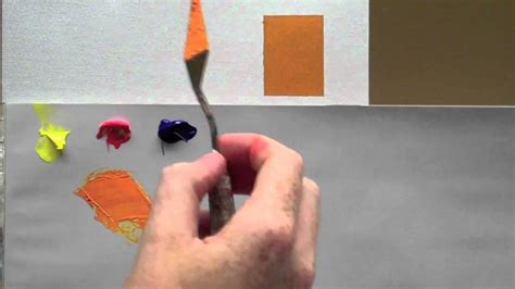 colour mixing basics acrylic painting technique to match a colour youtube