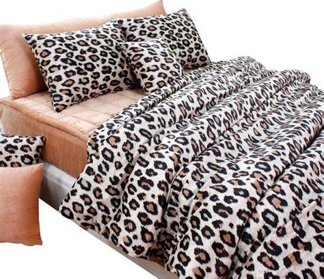 beige brown leopard microfiber duvet cover set moderne housse de couette et parure de