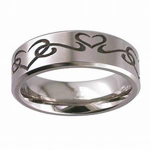 heart engraved titanium band weddingringmart39s blog With wedding ring mart
