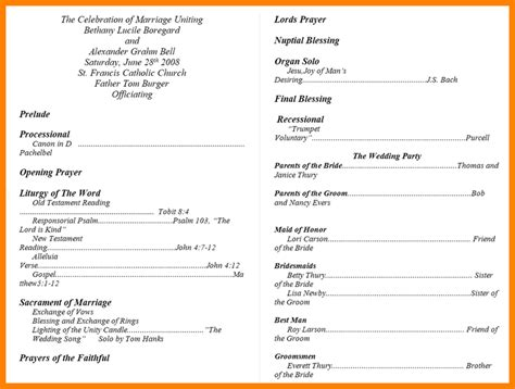 wedding bulletin template 6 banquet programs templates appeal leter