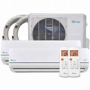18000 Btu Mini Split Air Conditioner Dual Zone Ductless Ac