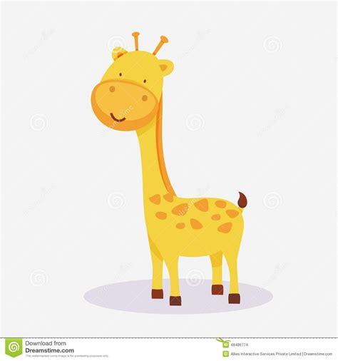 concept   giraffe animal cartoon stock illustration