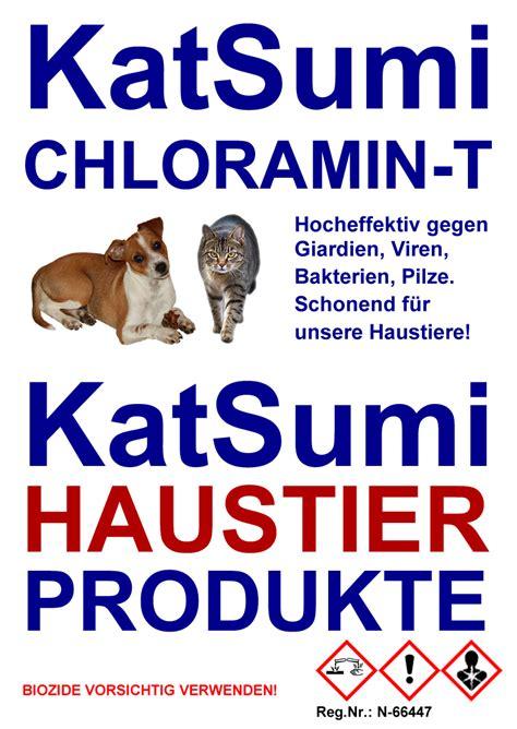 katsumi chloramin  gegen giardien bei katze und hund mit