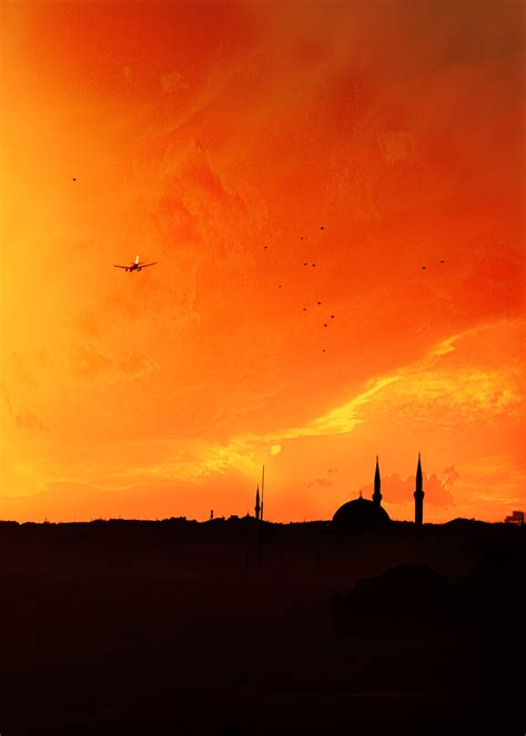 images istanbul sunset scape city silhouette