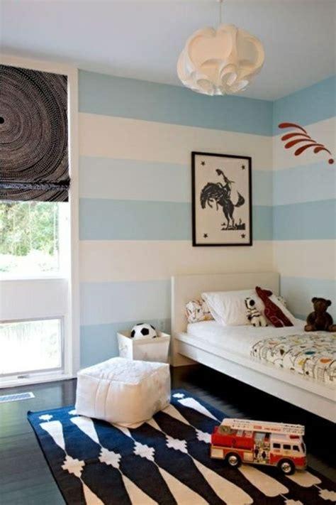 Kinderzimmer Junge Grün Streichen by Streifen Wand Streichen Deko Idee Wei 223 Blau Junge Kr 252 Mel