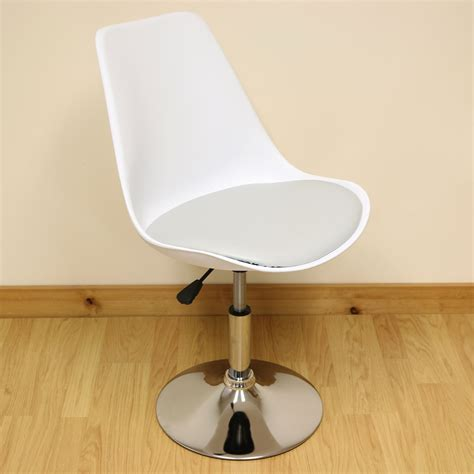 sale white grey adjustable tulip swivel desk chair home