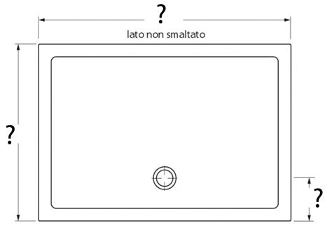 Dimensioni Piatti Doccia by Misure Piatto Doccia Standard