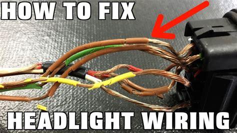 replace headlight wiring youtube