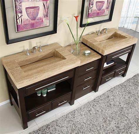 double sink cabinet  espresso finish