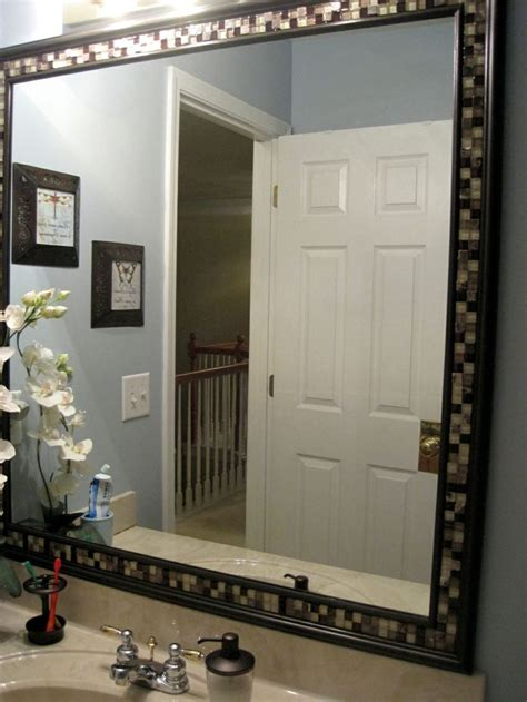 How To Decorate A Bathroom Mirror by 1000 Ideas About Frame Bathroom Mirrors On