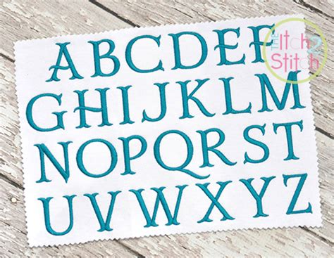 darcy fishtail embroidery font  itch  stitch