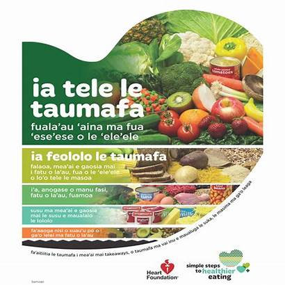 Samoan Healthy Heart Poster Pyramid Resources Eat