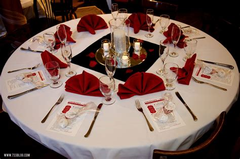 red and black table settings view in gallery v ire