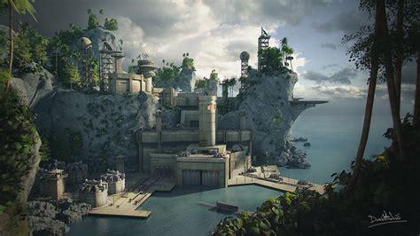 isla roca military base cgtrader