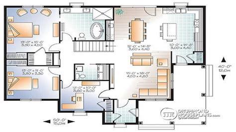 3 Bedroom Open Floor Plan 3 Bedroom House Plans with Two