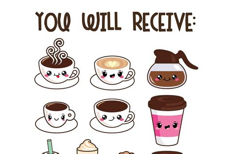 The best gifs are on giphy. Kawaii coffee | Custom-Designed Illustrations ~ Creative Market