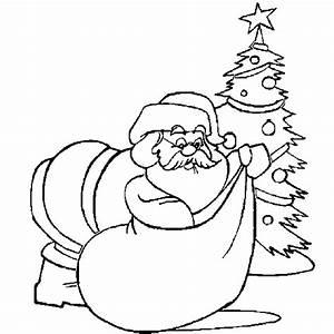 Christmas coloring - Santa_Claus, Christmas_tree ...