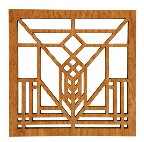 frank lloyd wright designs cherry wood trivet with frank lloyd wright lake geneva