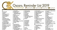 Oscars 2020: Printable Best Picture Reminder List; How ...
