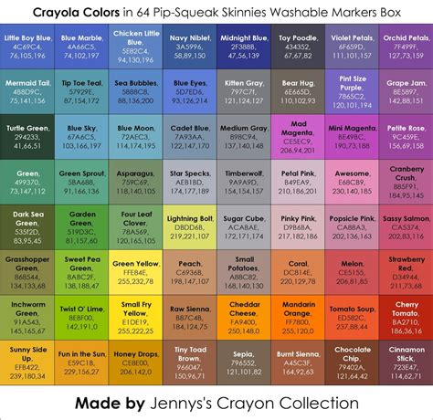 green colors list list of current crayola marker colors s crayon