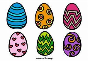 Cartoon Easter Egg Vectors - Download Free Vector Art ...