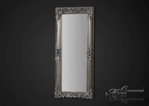 silver framed full length mirror