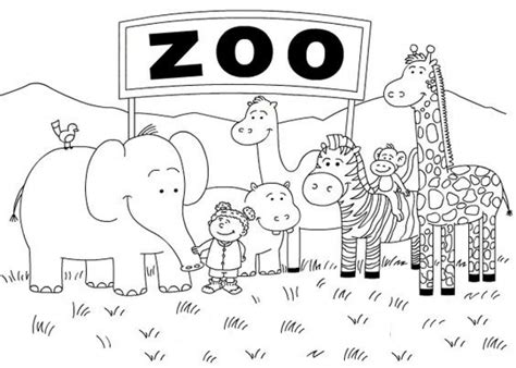 Coloring Zoo by Get This Zoo Coloring Pages Free To Print 56347