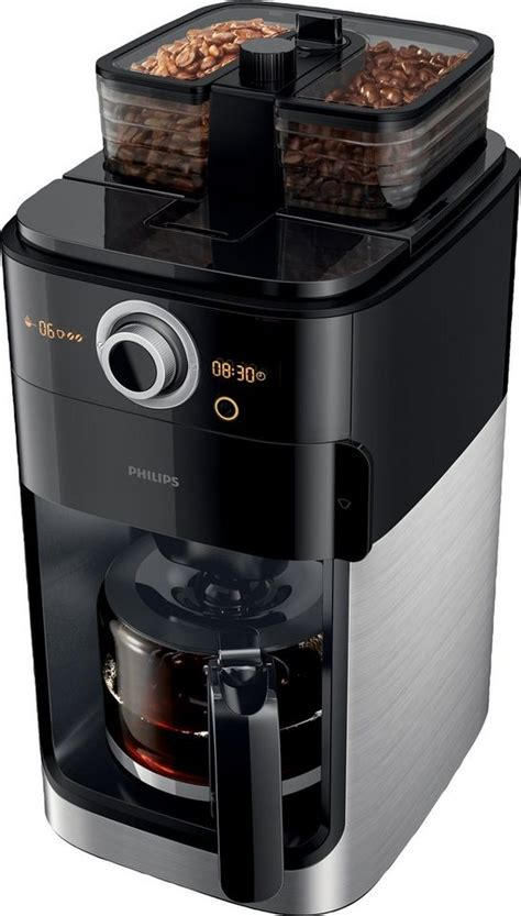 philips kaffeemaschine mit mahlwerk hd7766 00 grind brew 1 2l kaffeekanne papierfilter 1x4