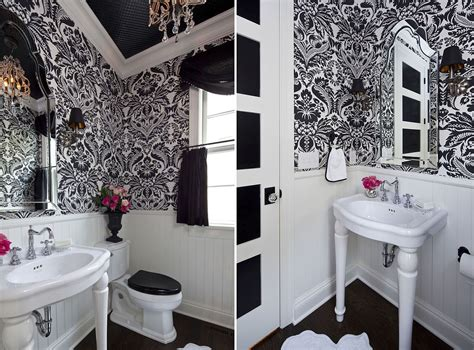 Powder Rooms :  20 Powder Rooms In Black And White