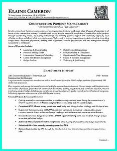 Format For Curriculum Vitae Sample Construction Project Manager Resume For Experienced One