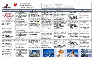 february special events at schooner estates senior living With assisted living activity calendar template