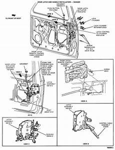 Ford Van Door Latch Assembly