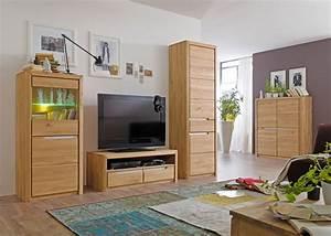 Wohnzimmer Eiche Massiv : wohnzimmer pisa 45 eiche bianco massiv 4 teilig wohnwand wohnm bel wohnbereiche wohnzimmer ~ Markanthonyermac.com Haus und Dekorationen