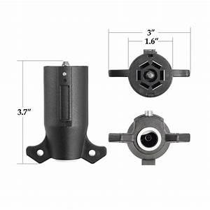 7 Pin Trailer Plug Socket 7 Way Blade Round Wiring