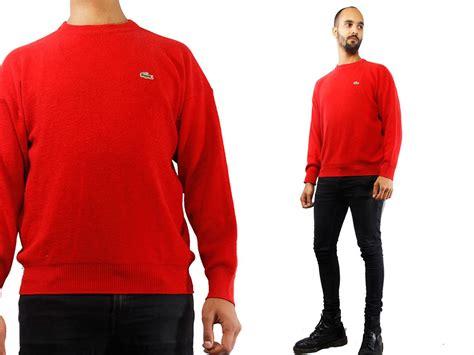 Hipster Sweater / Hipster Jumper / Hipster Sweater Red / Lacoste Sweater Red / Lacoste Jumper