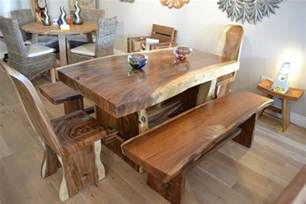 wood dining room sets solid chunky wood dining set