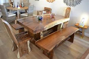 Interior: Wooden Rustic Kitchen Tables Combine With Wooden