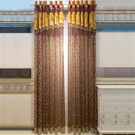 deluxe ready made sheer curtains will show room in fancy way